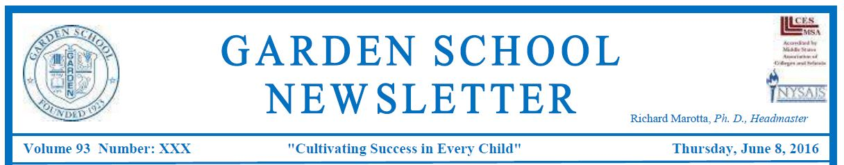 School Newsletters  Garden School