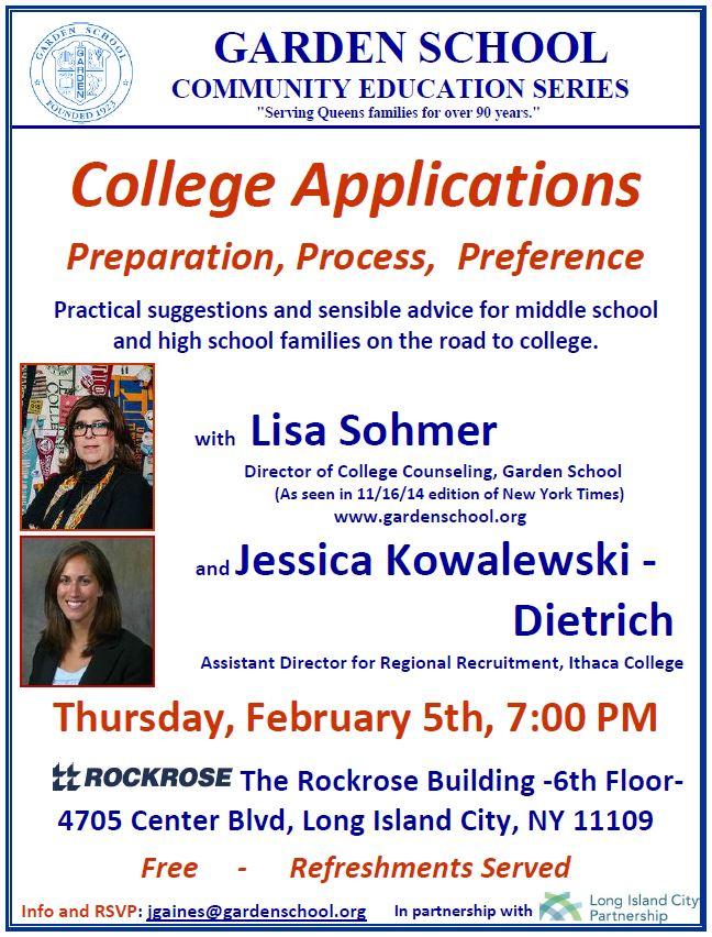 LIC College Night Photo Flyer 2-5-15