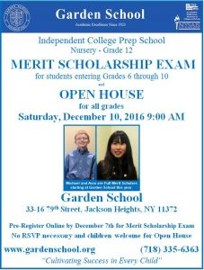 Merit Exam Flyer 2016