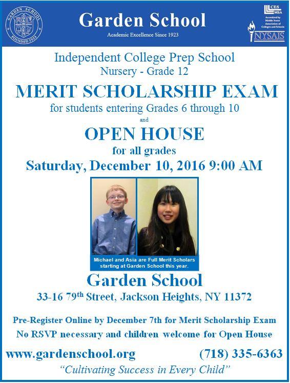 Merit Exam Flyer 2016