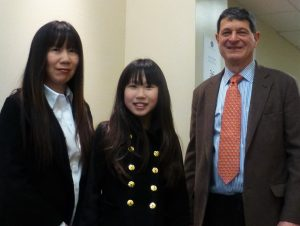 Tammy and Asia Chen, Full Merit Scholarship Winner, with Headmaster, Dr. Marotta.